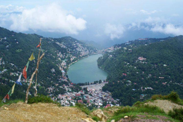 Tiffin top view of Nainital
