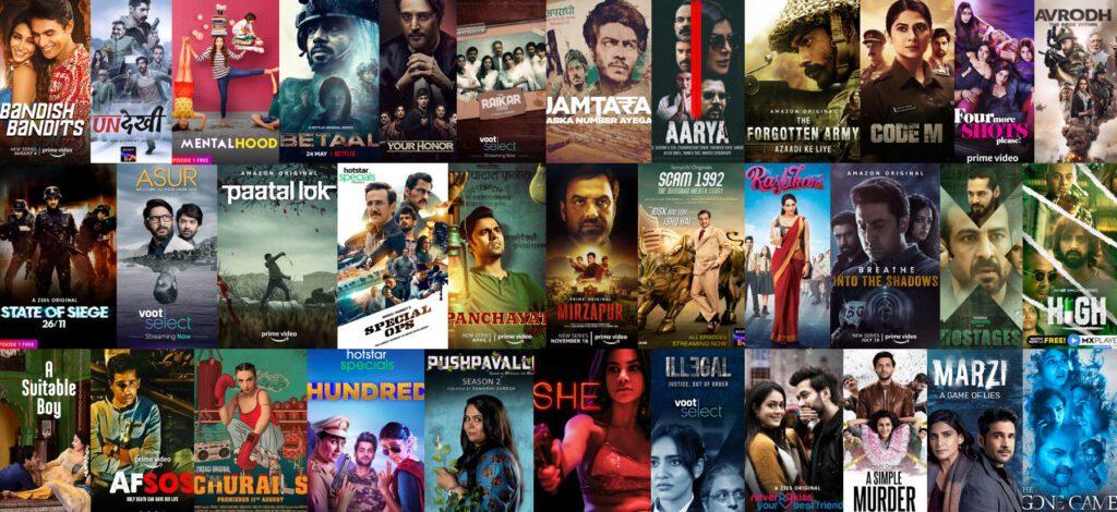 OTT movies web series posters